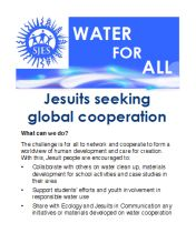 WaterforAll Jesuit Response